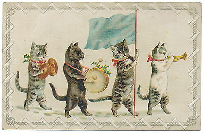 Helena Maguire Lion Coffee Trade Card - Christmas Cat Parade