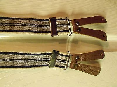 Vintage-Style Striped Button Down Braces,