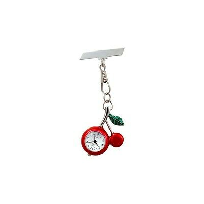 Funkyfobz Cherry Fob Watch Perfect Gift for Midwife Nurse HCA Beauty Therapist