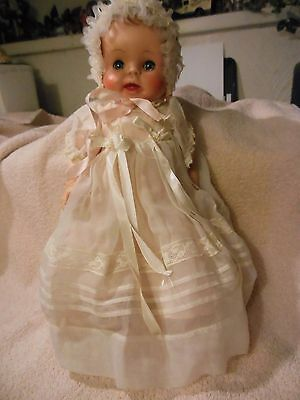 """12"""" vintage American Character baby doll of the 50's in beautiful outfit"""