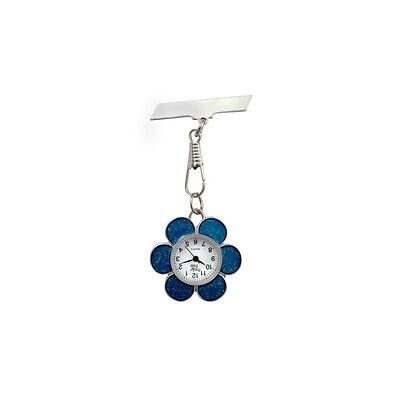 Funkyfobz Blue Flower Fob Watch Perfect Gift for Midwife Nurse Beauty Therapist