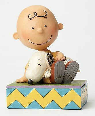 Jim Shore Peanuts Happiness is Snuggling Charlie Snoopy Figurine 12cm 4049397