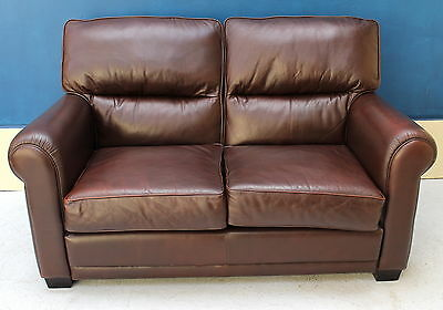 Genuine Leather Lounge MORAN 2 Seater SOFA COUCH