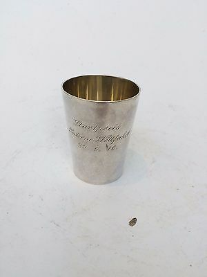 Antique German 800 Silver SY&Wagner Gilt Beaker