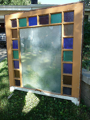 Antique Stained Glass Window Sash - Circa 1890 Queen Anne Architectural Salvage