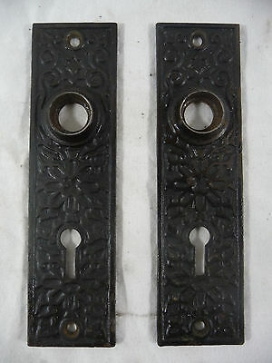 Two Antique Victorian Door Plates - C. 1880 Eastlake Architectural Salvage