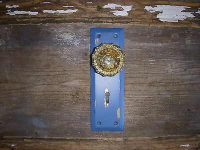 Antique Glass/metal Rustic Door Knob/backplate Coat Hanger,hat Rack,towel Hanger