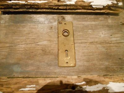 Antique Chippy Shabby Small  Antique Door Knob Back Plate Aged Patina Craft Use