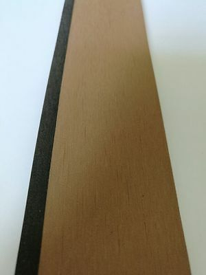 12.5 Meter Roll Synthetic Teak Decking With Black Caulking Line Stripe 50mm Wide