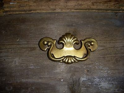 Nice Vintage Early American Style Brass Drawer Backplate Jewelry Upcycle Crafts