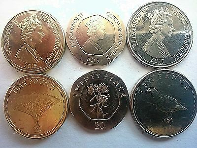 Gibraltar. 2015. 3 Coins. One Pound, Twenty Pence And Ten Pence. Uncirculated