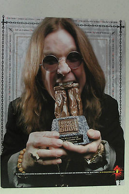 OZZY OSBOURNE Full Page Pinup magazine clipping biting down on an award