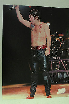 OZZY OSBOURNE Full Page Pinup magazine clipping marks across his stomach
