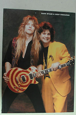 OZZY OSBOURNE Full Page Pinup magazine clipping with a young ZAKK WYLDE