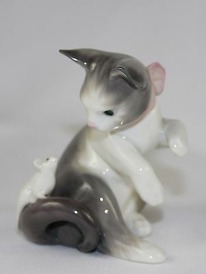 """Lladro """"cat And Mouse"""" #5236 Figurine ~ ~ Perfect!!! ~ ~"""