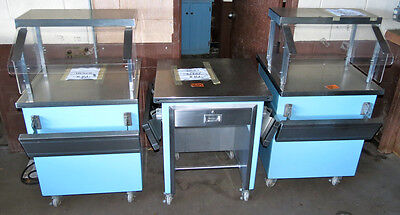 Lot of 3 Matching Serving Counters & Cashier Stand, Catering Buffet Line Table