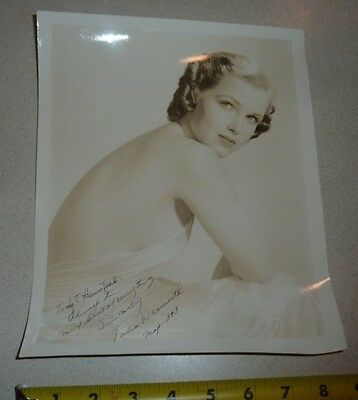 TALIA WERMUTH SIGNED PHOTO vintage PINUP stripper dancer burlesque scat