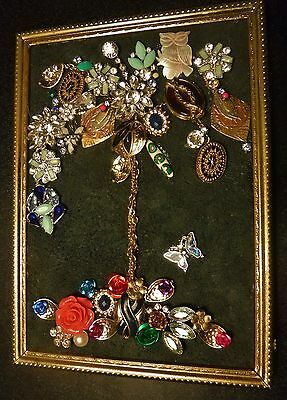 Tree of Life, Vintage & Modern Jewelry Art, Colorful One of a kind! Small size