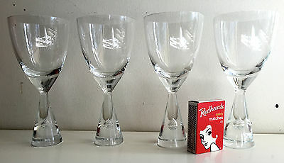 holmegaard denmark 4 x princess glasses signed 14 cms high