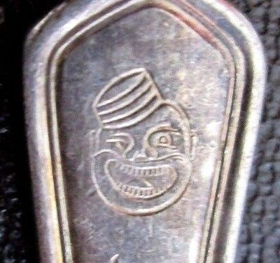 ORIGINAL Oyster FORK from COON CHICKEN INN With Logo Face Black Americana
