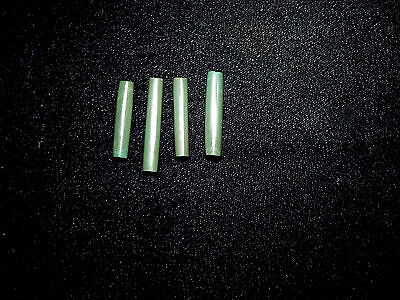 Pre-Columbian Green Jade Tubular Beads, Set of 4, Authentic, Very Rare