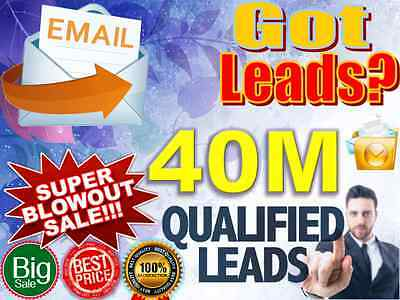 Buy 40M Email Lists Super Blowout. Possible Leads!
