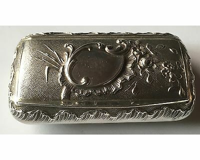 Antique French 950 Sterling Silver Snuff Box