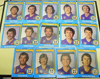 Scanlens Football Cards Lot Of 14 Fitzroy
