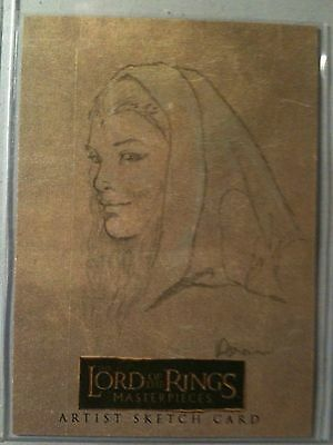 Lord of the Rings Masterpieces sketch card Colleen Doran