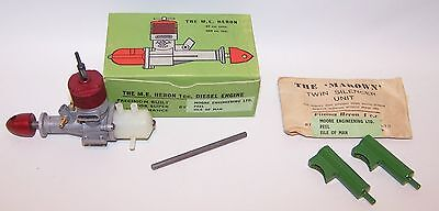 New In Box M.E. Heron 1cc Diesel Control Line Model Airplane Engine