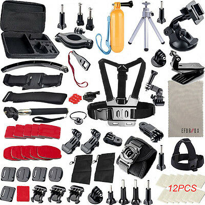70 in1 Pole Head Chest Mount Strap GoPro Hero 2/3/4/5 Camera Accessories Set Kit