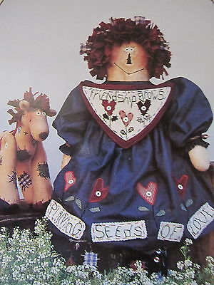 """"""" MAGGIE ANN & PATCHES """".. CLOTH DOLL  Pattern... By Inspired Creations"""