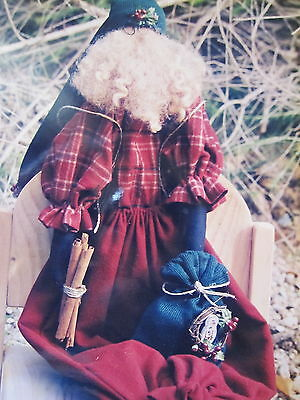""""""" BERRY MERRY SANTA  """"... CLOTH DOLL Pattern... By Woodcutter's Daughter"""