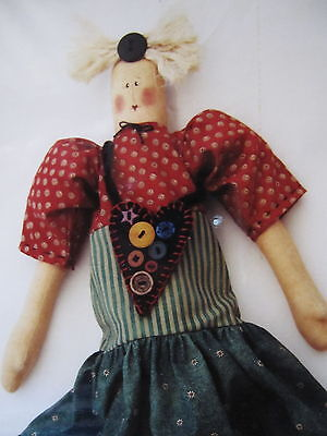 """"""" MYRTLE """".. CLOTH DOLL  Pattern... By Hooked On Country"""