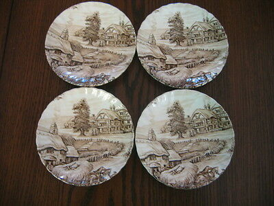 4 Vintage Ridway Small English Saucers - Hayside