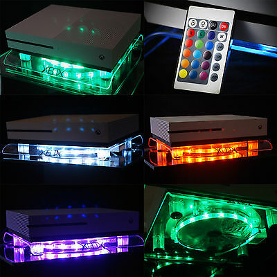 RGB LED USB Design Ventilateur De Refroidissement Stand Xbox One S Scorpio