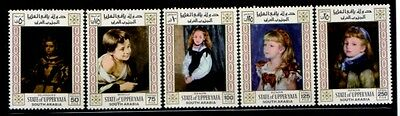 UPPER YAFA Renoir, Velazquez & Murillo PAINTINGS MNH set