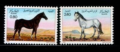 ALGERIA Brown Stallion & White Mare HORSES MNH set