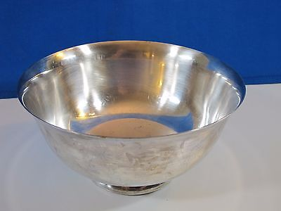 """Vintage REED & BARTON 104 Bowl Silver Soldered 8"""" Diameter Nice Condition"""