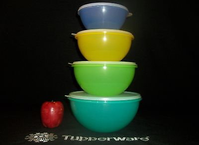 Tupperware 3 NEW Wonderlier Serving Bowls 6 8 12 cups ~EUC 3cup 50th Anniversary