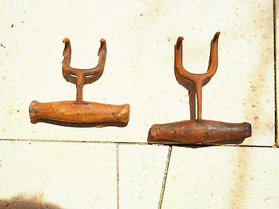 Vintage Wool And Hay Bale Hooks