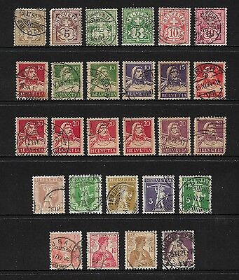 SWITZERLAND - mixed collection No.7, early, from 1882