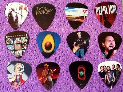 PEARL JAM -  Guitar Picks Full Colour Set of 12