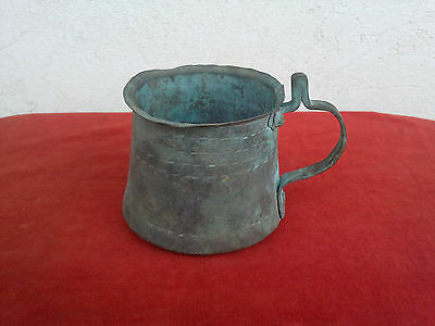 Very old primitive hand-hammered Turkish copper pot for coffee -  320g