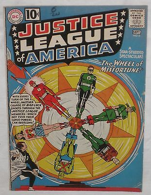 Silver Age JUSTICE LEAGUE of AMERICA #6  Wheel of Misfortune  VG