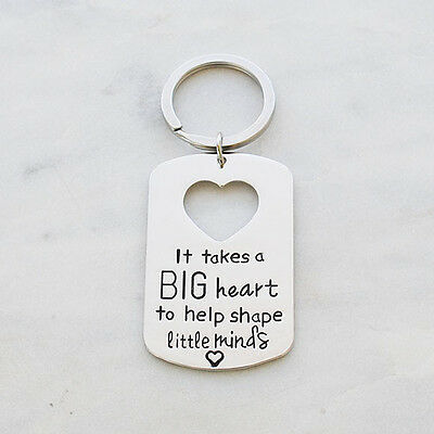 NEW Teacher key ring in silver Women's by Buena Vida