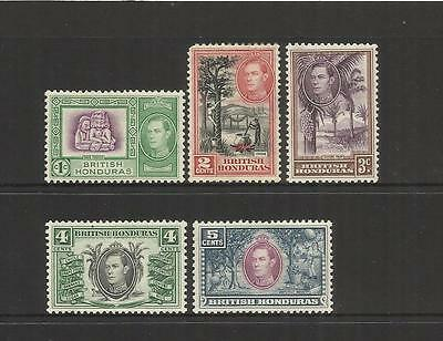 British Honduras (Belize) ~ 1938-47  King George Vi (Mint Part Set Mh)