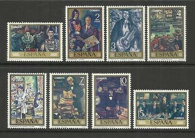 Espana Spain ~ 1972 Stamp Day & Solana Paintings (Mint Mnh)