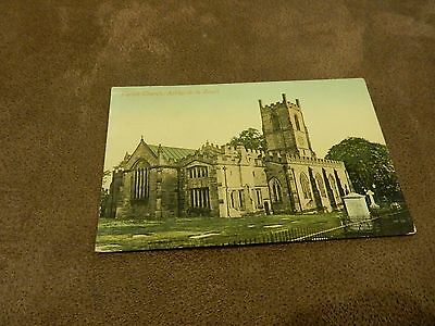 Early Valentines series Postcard-Ashby-de-la-Zouch church - Leicestershire