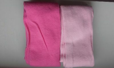 New Girl's Pink 2 Tights size 5-6 years